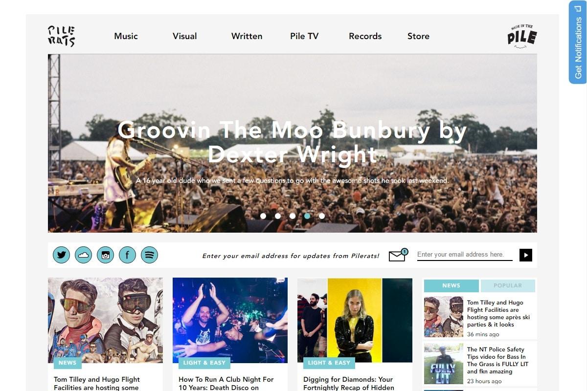 pilerats australian music blog
