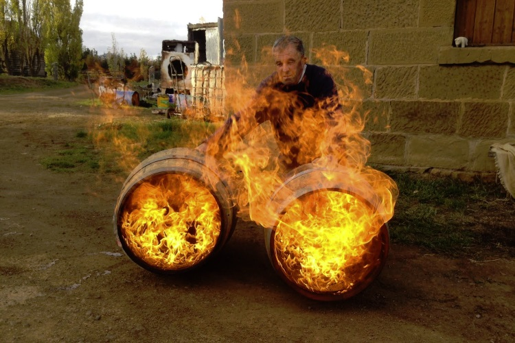 belgrove distillery burning barrel