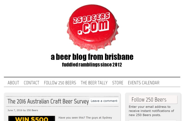 250 beers bar blog