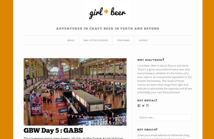 girl + beer bar blog