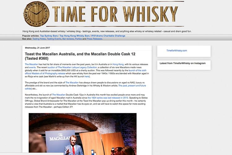 time for whisky online blog