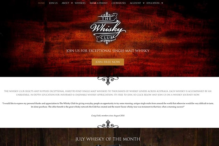 the whisky club blog online