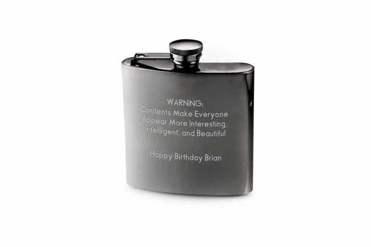 things remembered gunmetal flask personalized engraving