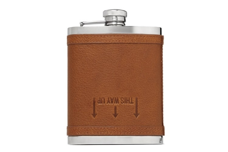 j crew leather flask