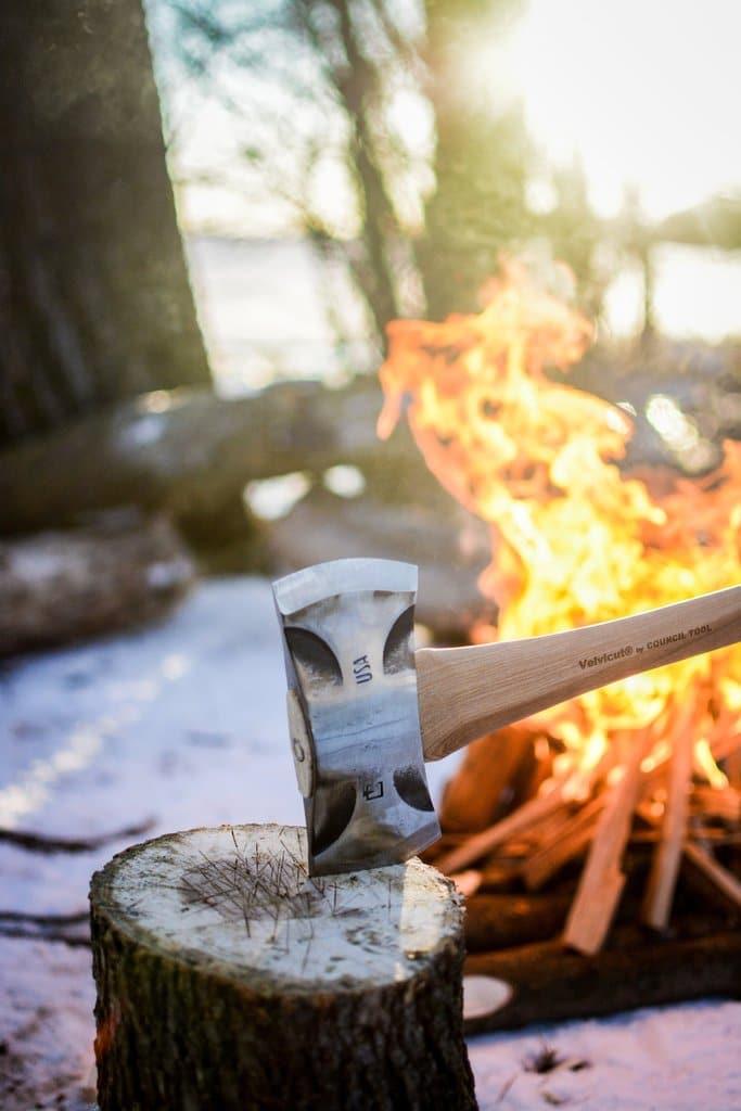 council tool double bit saddle axe sharp