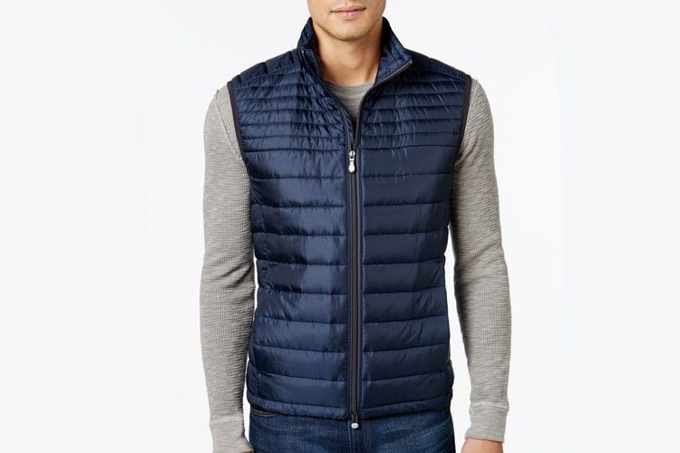 hugo boss green men veon quilted vest