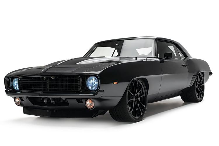 all black chevrolet camaro 1969