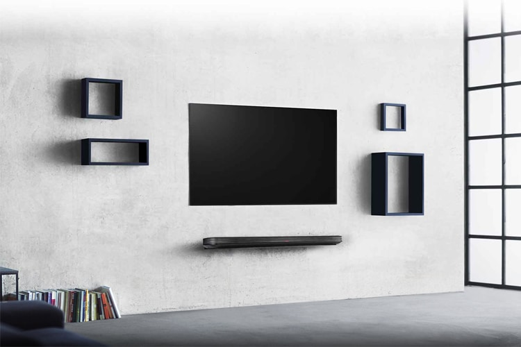 lg signature oled wallpaper tv in the wall