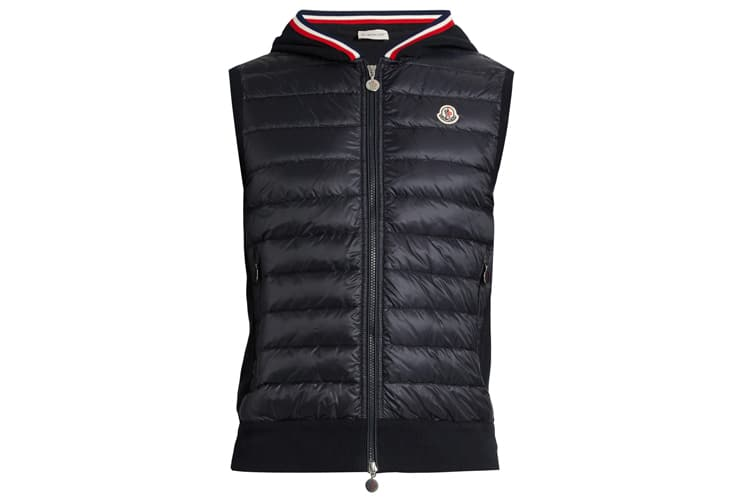 moncler maglia knit back quilted down gilet