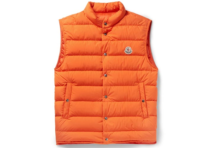 moncler febe quilted shell down gilet