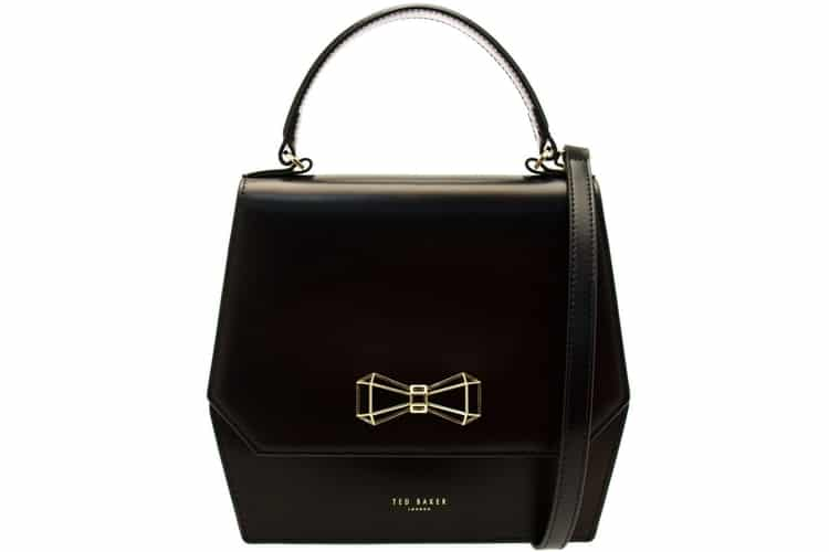 mother ted baker gerri geometric bow leather bag