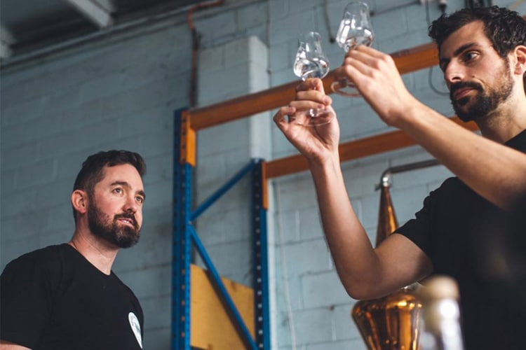 observation process of distilling gin