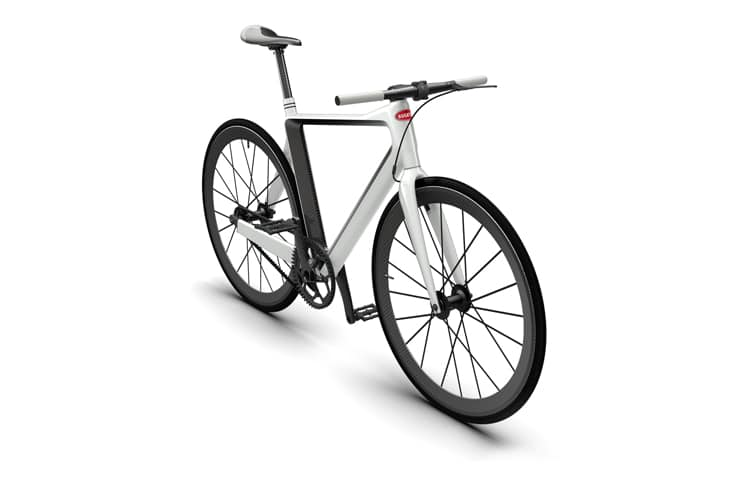white color pg x bugatti fixie lightest bicycle