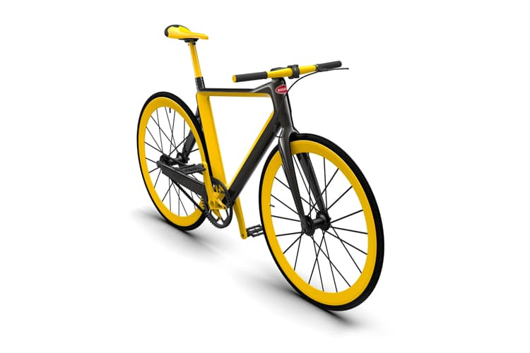 yellow color pg x bugatti fixie lightest bicycle