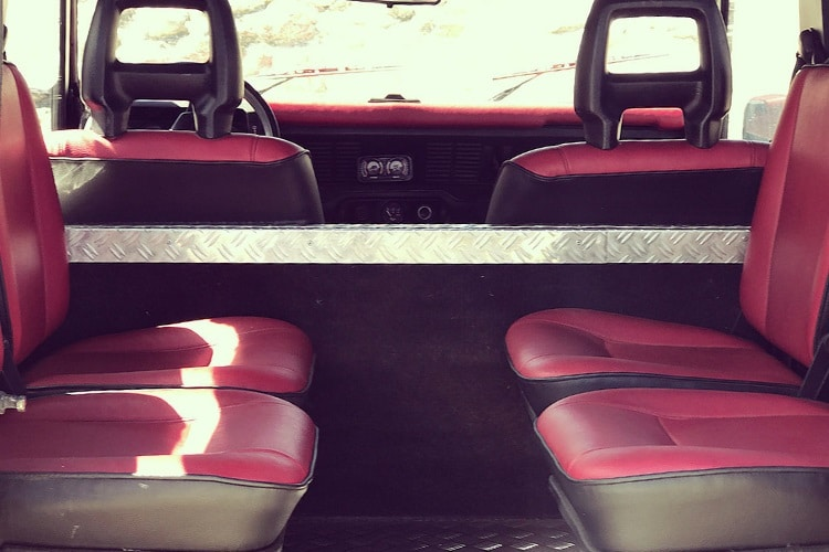 petrology land rover defender seats