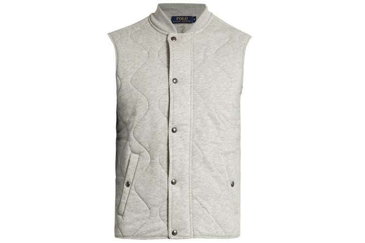 polo ralph lauren quilted jersey gilet