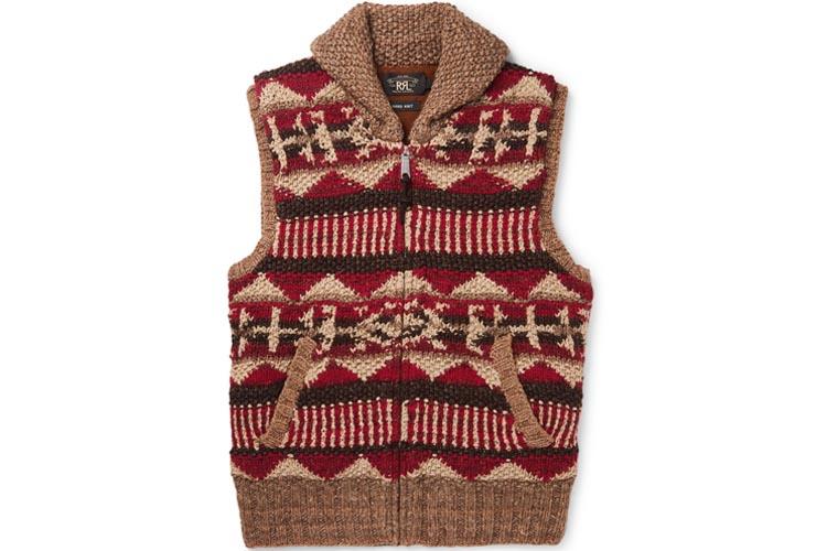 rrl shawl collar linen