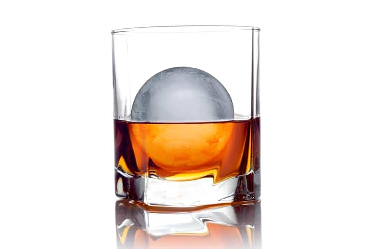 ice ball in glass