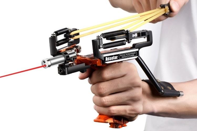 assolar badass weapon wrist mounted slingshot