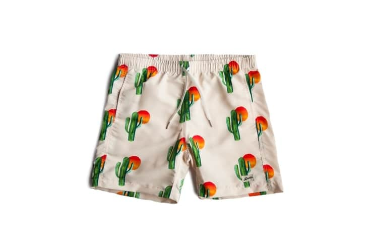 cactus day swim trunks by bather trunk co.