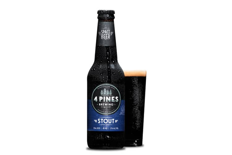 4 pines stout beer bottle