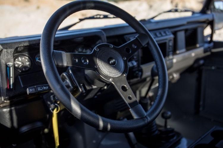 cool and vintage defender 90 steering wheel