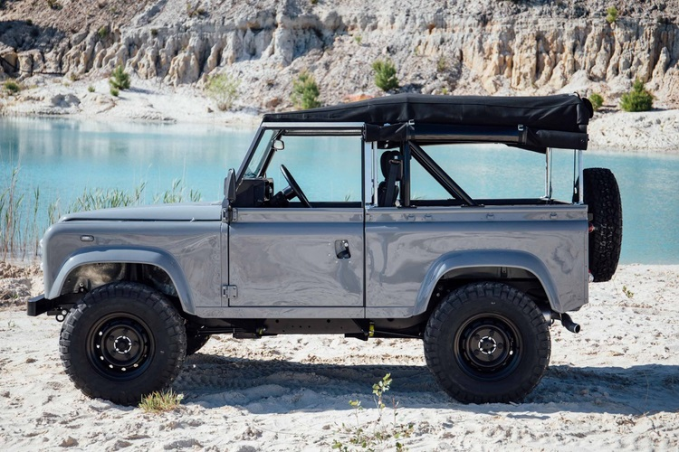 cool and vintage defender 90 jeep