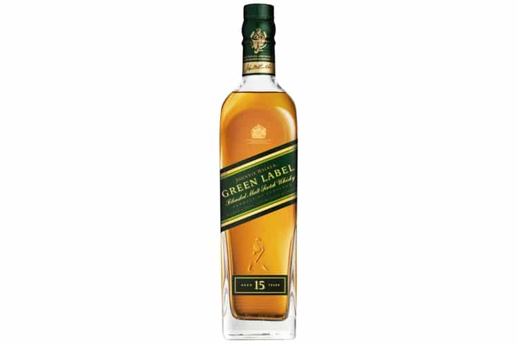 johnnie walker green label bottle