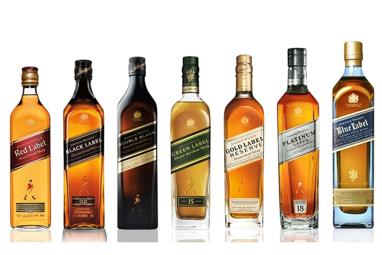 johnnie walker whisky types