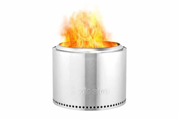 stainless steel portable fire pit by solo stove