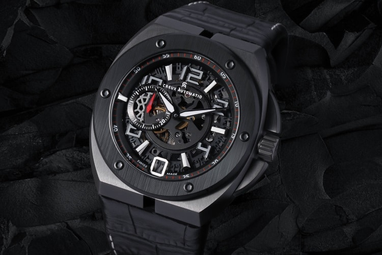 creux automatiq watch black
