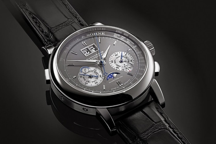 a lange and söhne black strap