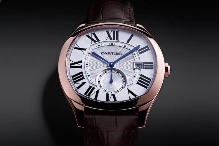 cartier rose gold watch band