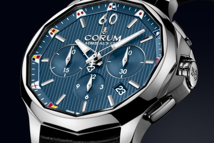 corum blue color watch