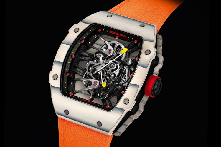 richard mille oarnge color strap
