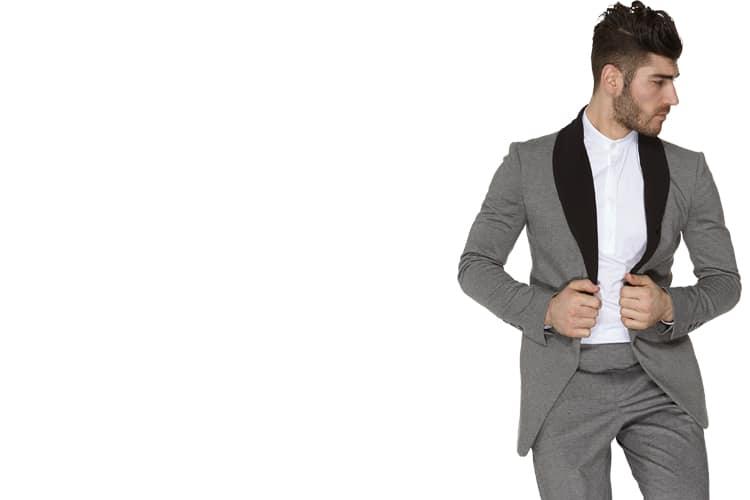 gentleman wear grey x suit