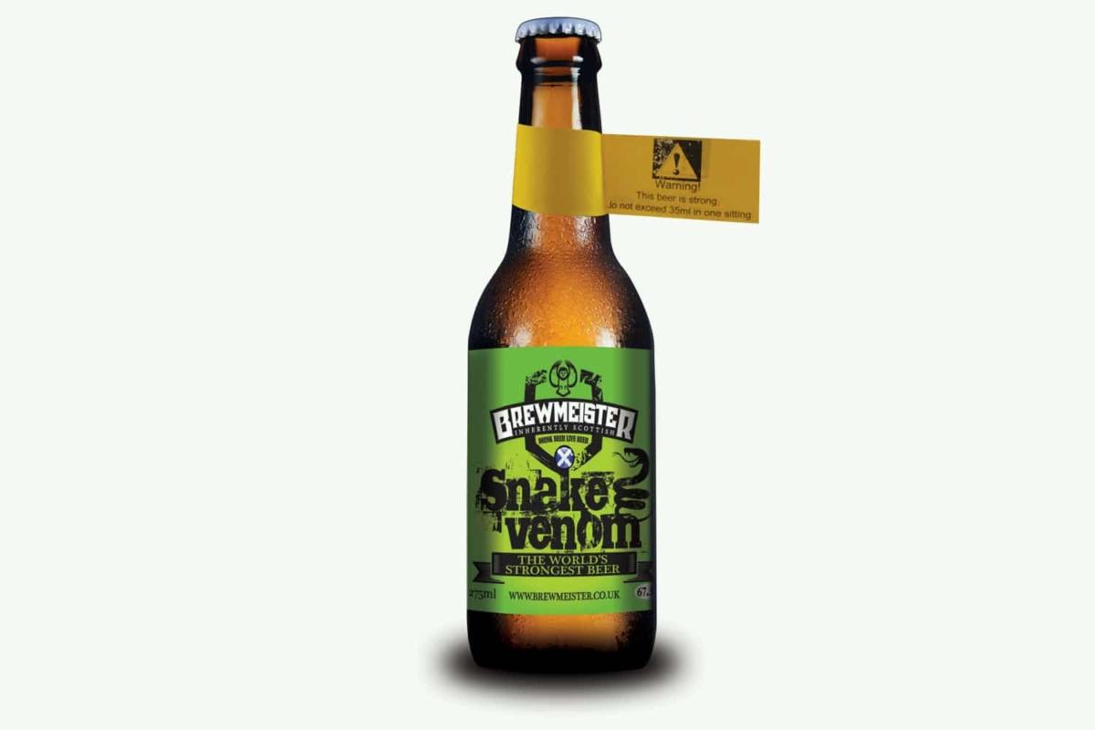 snake venom is the world's strongest beer