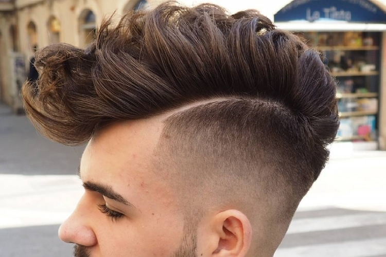 long hair faux hawk