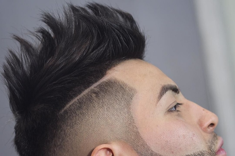 Top Spiked Faux Hawk Hair style