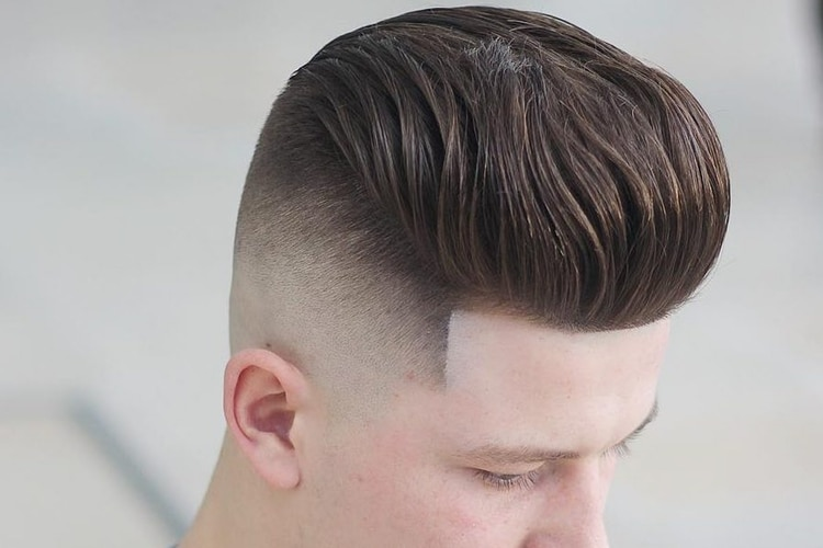 Long and Tall Pompadour Fade Haircut