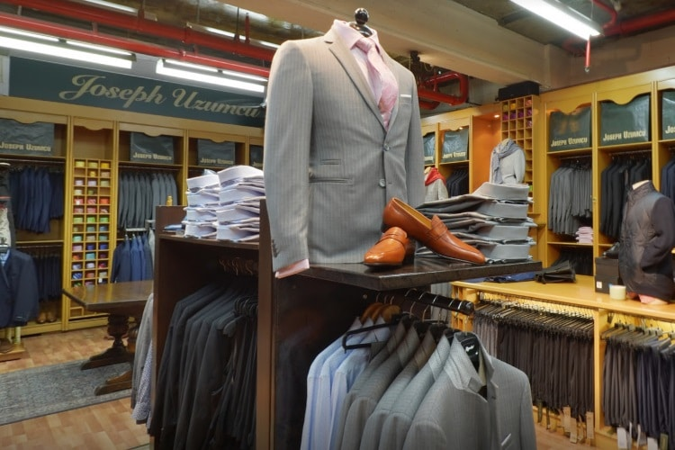 joseph uzumcu suits showroom