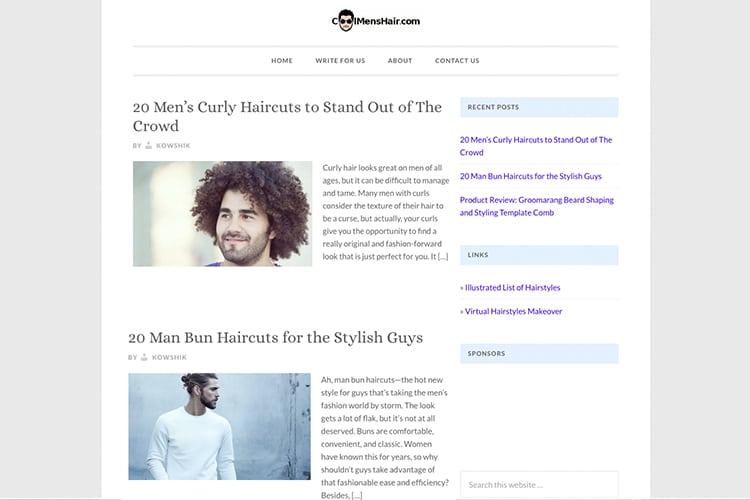 cool men's hair website