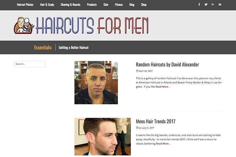 haircuts for men web portal