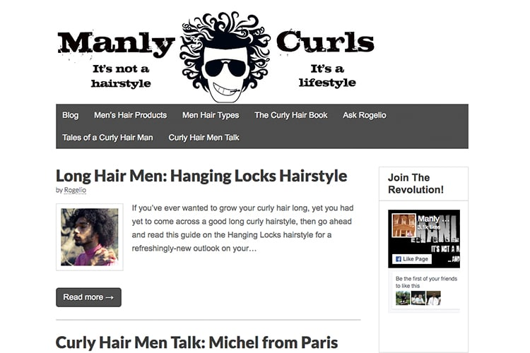manly curls men's hairstyle blog