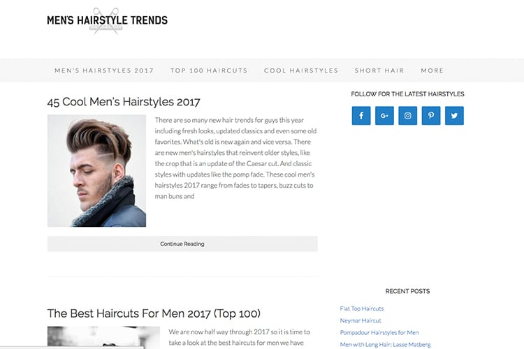 men hairstyle trends websites and blog