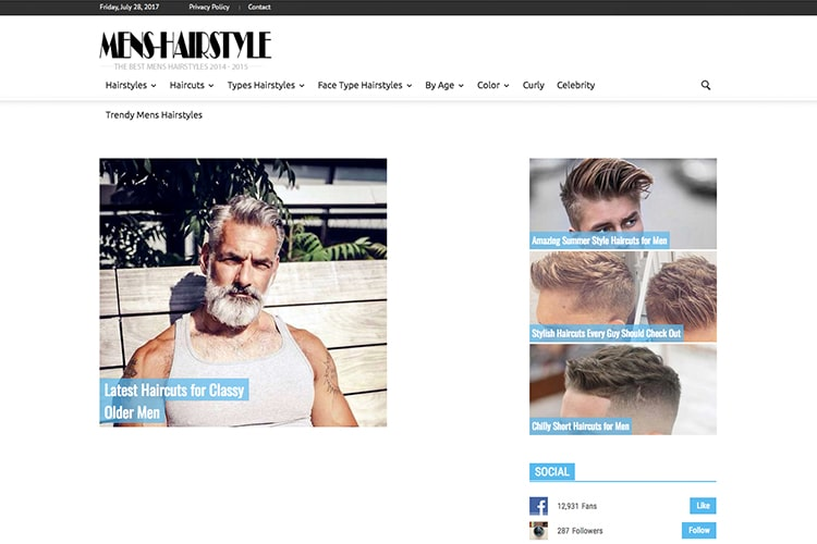 mens hairstyle hair solution website