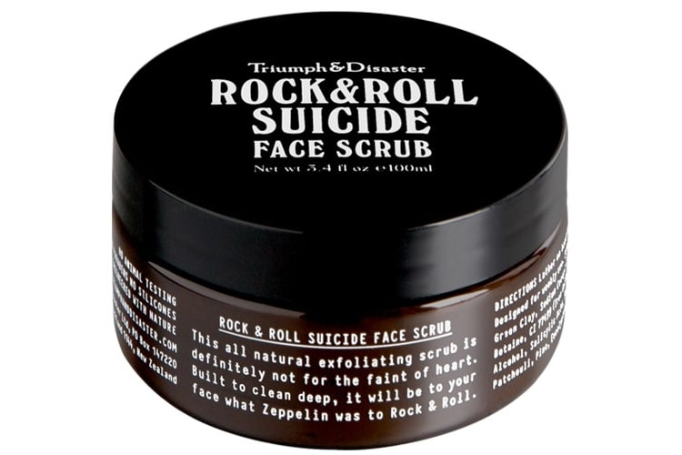 triumph disaster rock roll suicide face scrub