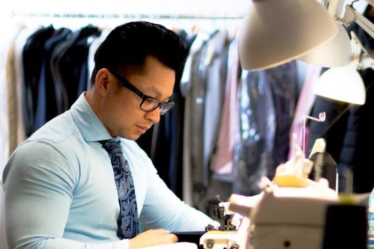 man work at anthony van pham tailors