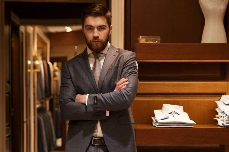 man wear ascot the tailors suit