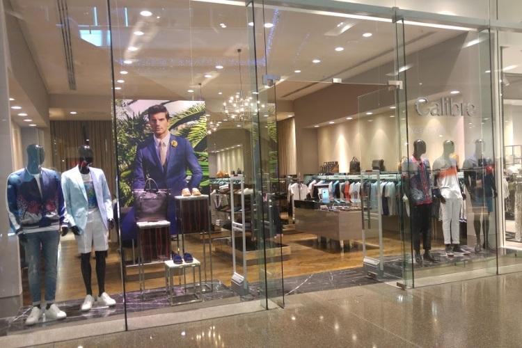 calibre suit shops interior